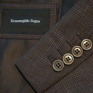Ermenegildo Zegna Firen CURRENT Linen Brown Plaid